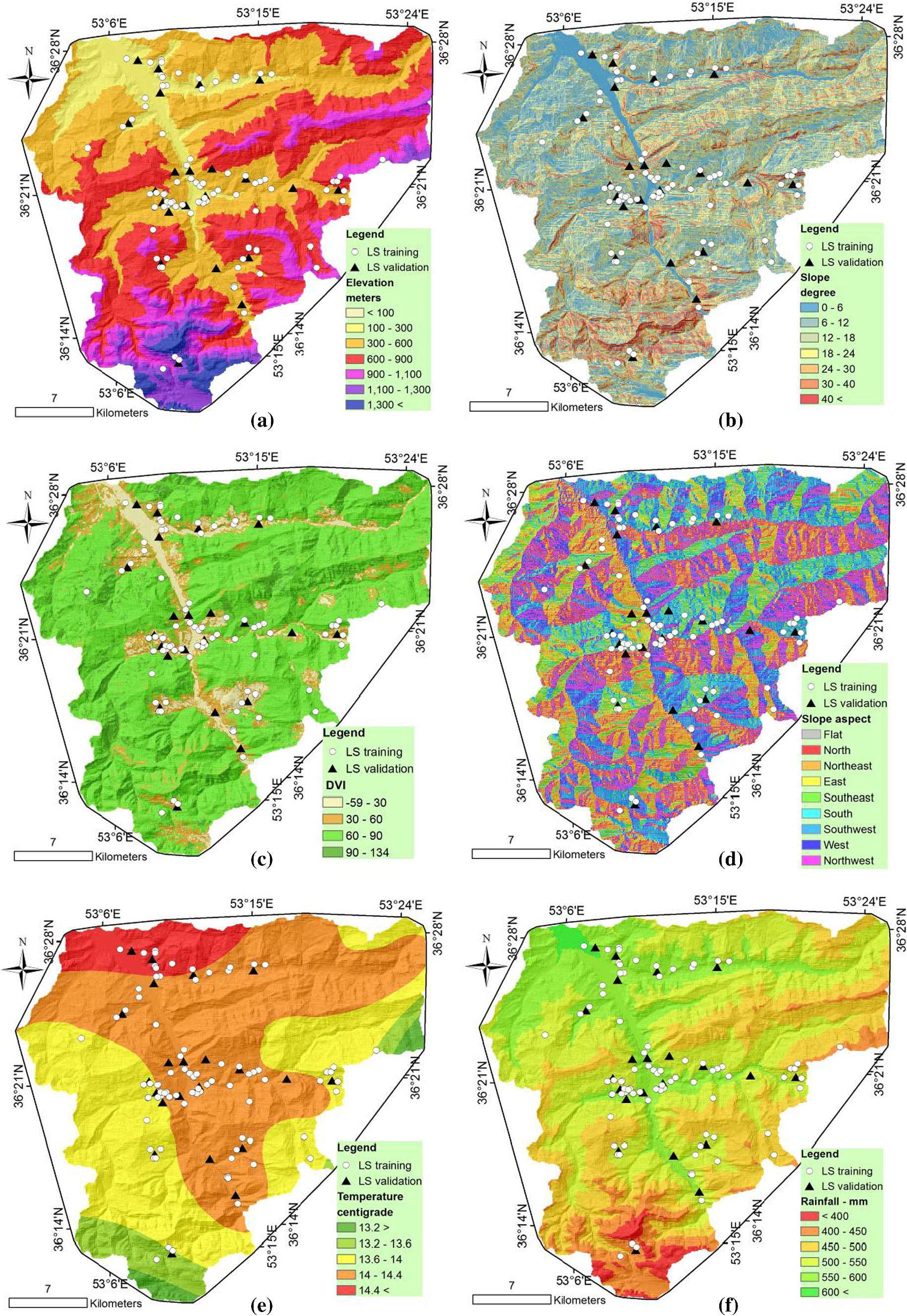 Landslide prediction capability by comparison of frequency ratio
