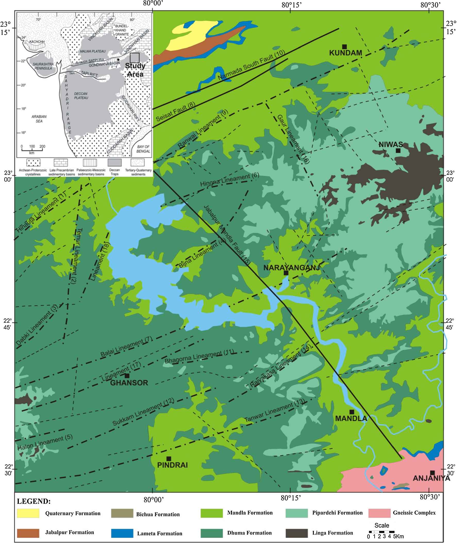 The geological site characterisation of the Mandla region
