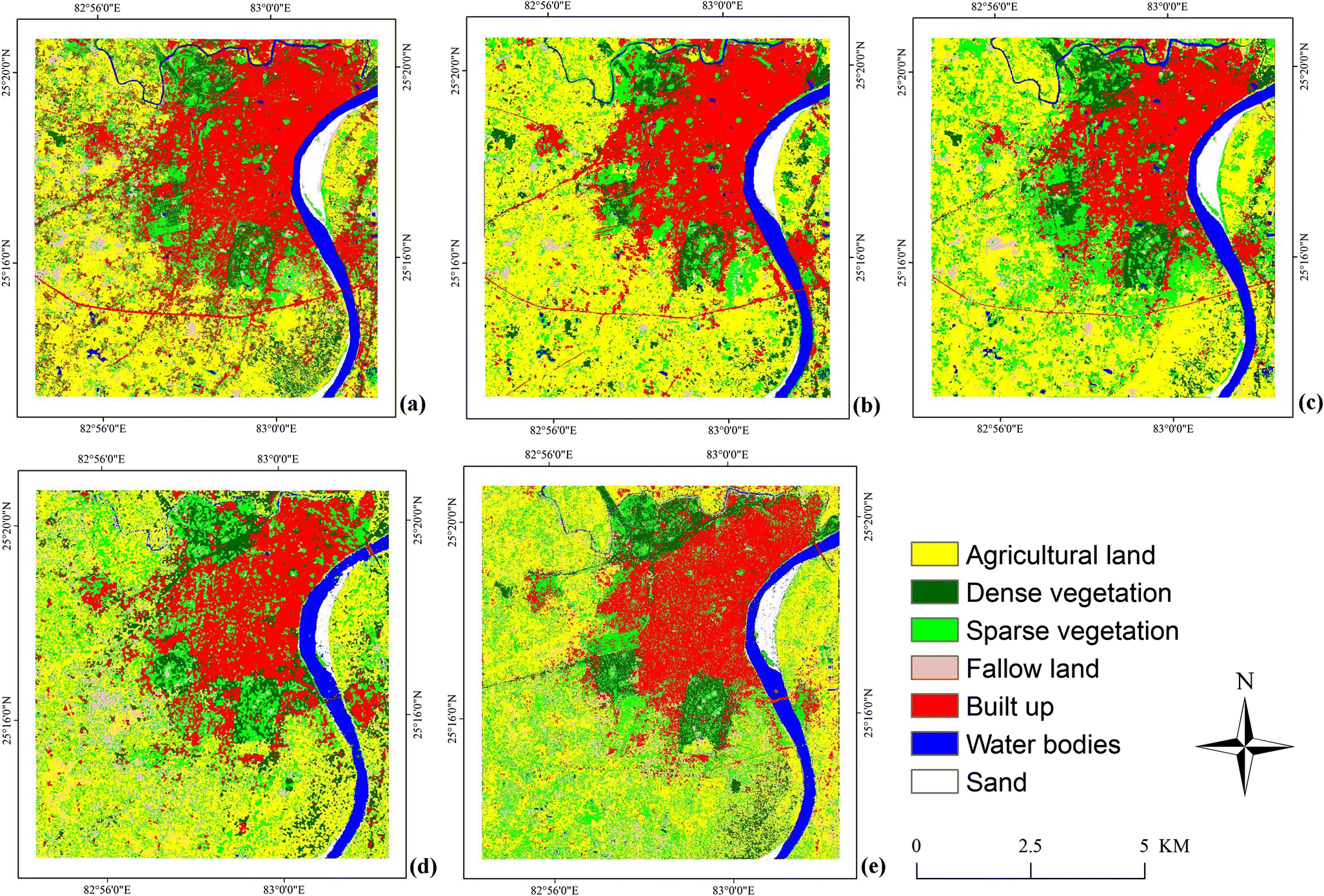 Performance evaluation of textural features in improving land use