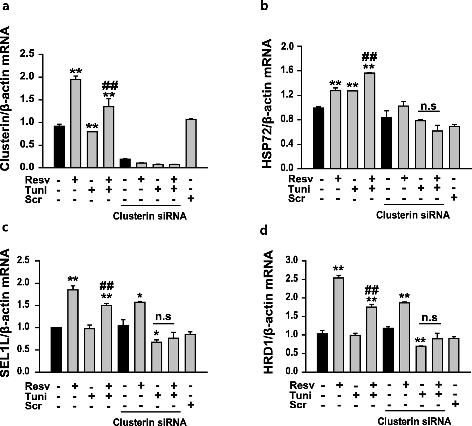 Resveratrol, an activator of SIRT1, improves ER stress by