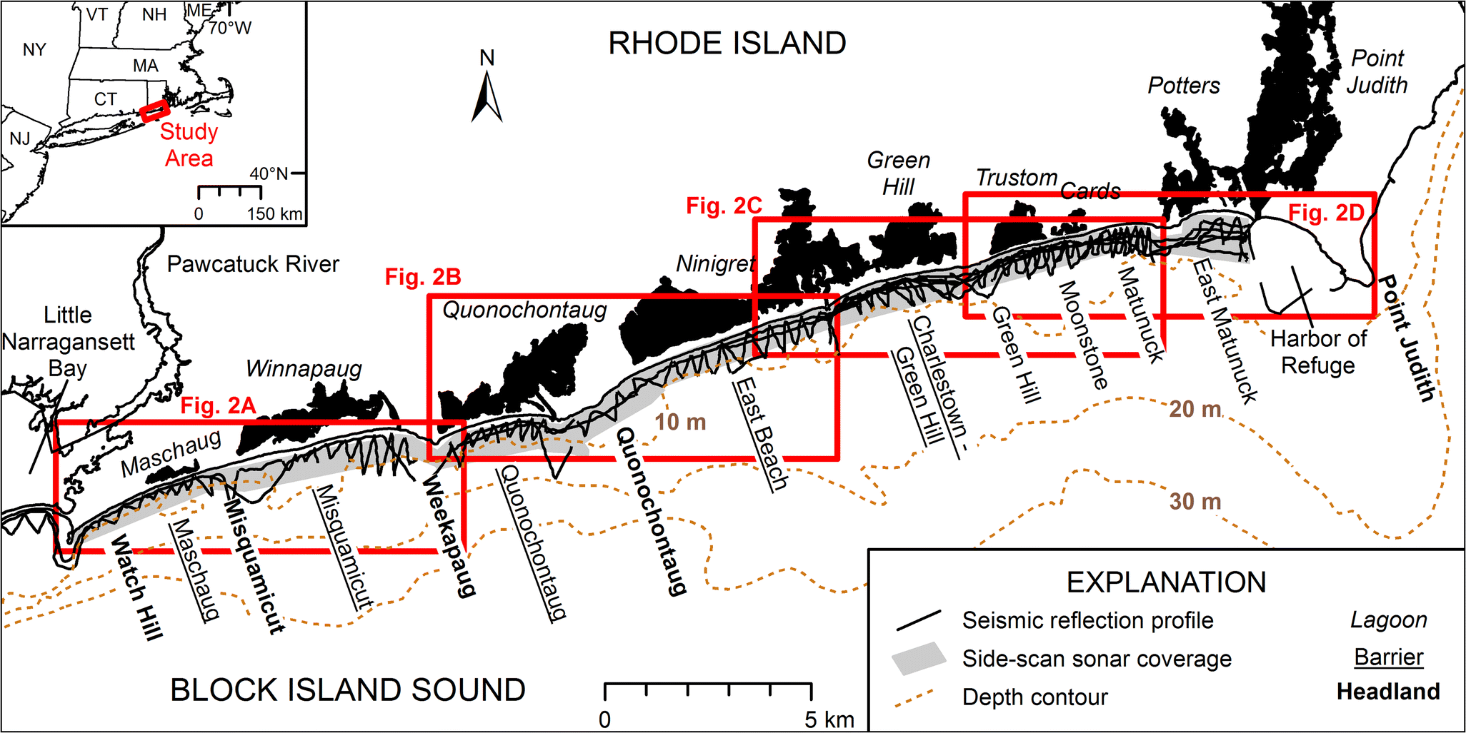 Spatial Extent and Volume of the Shoreface Depositional
