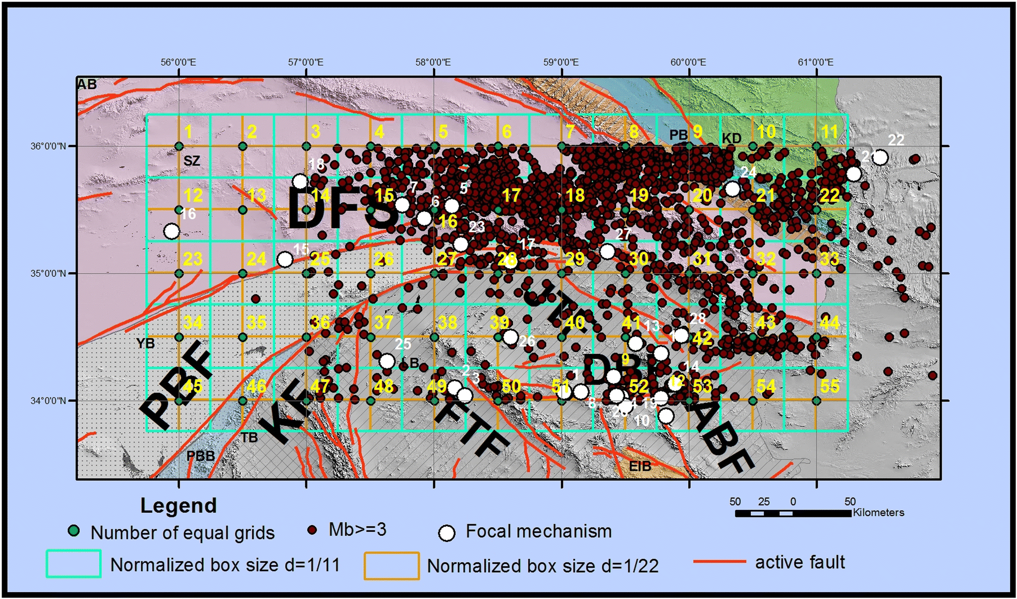 Regional variations and earthquake frequency–magnitude distribution