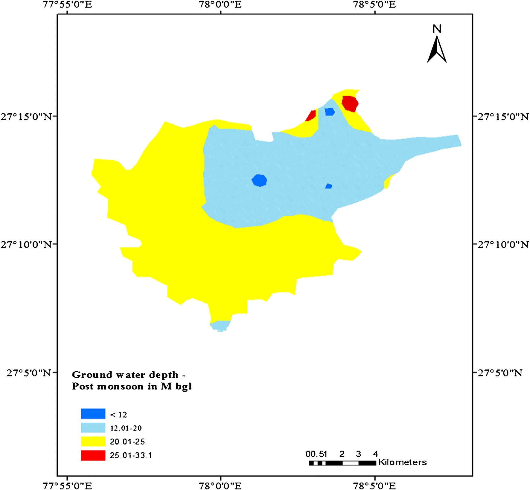 Spatio-temporal analysis of groundwater levels and