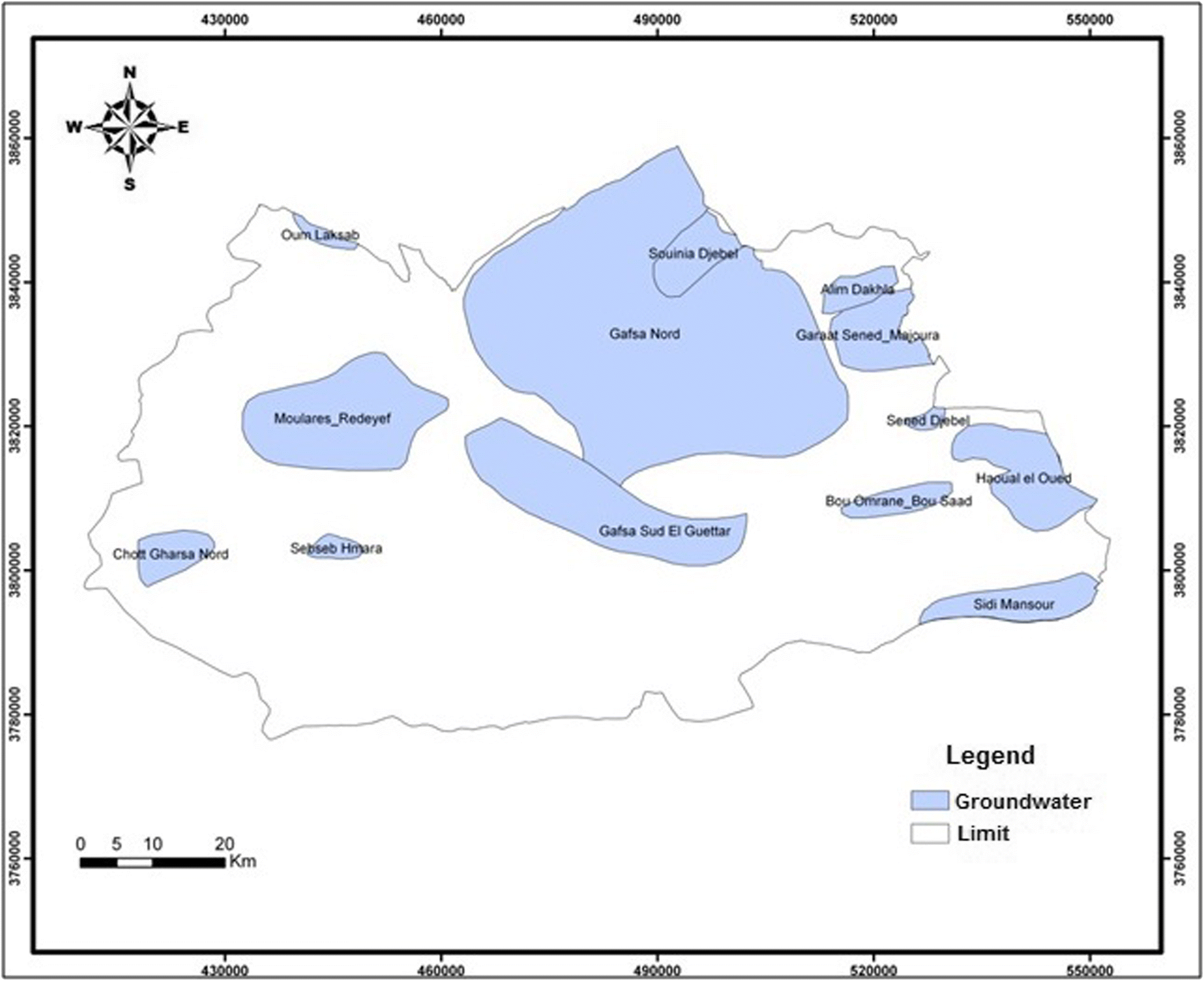 Inter-annual variability of rainfall under an arid climate: case of