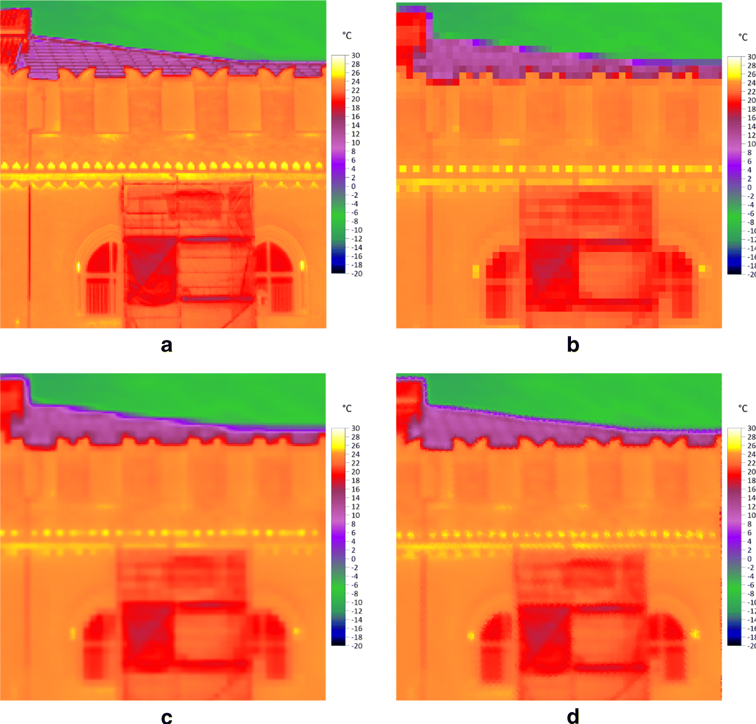 A multi-image super-resolution algorithm applied to thermal imagery