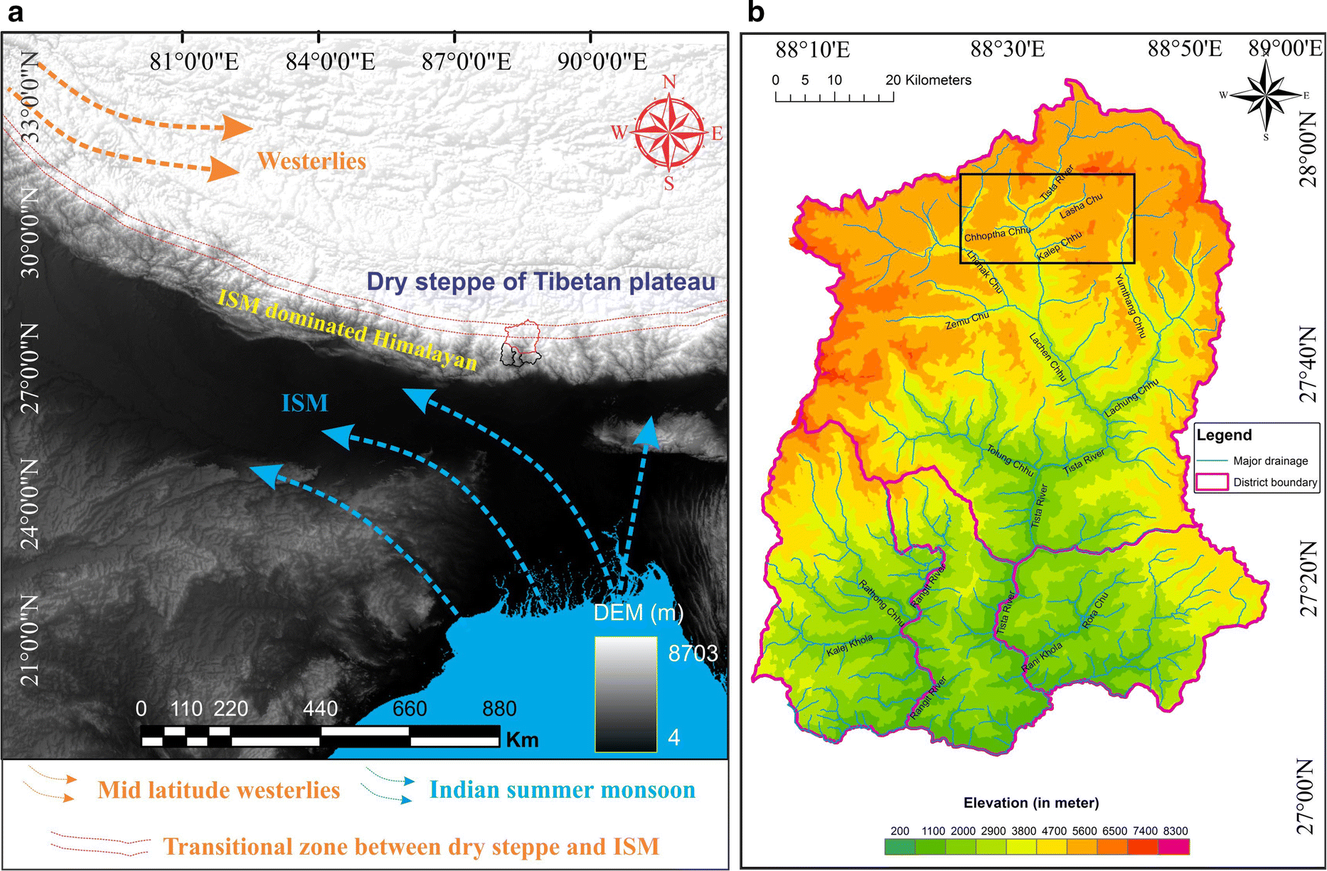 Glacial Geomorphology and Landscape Evolution of the Thangu