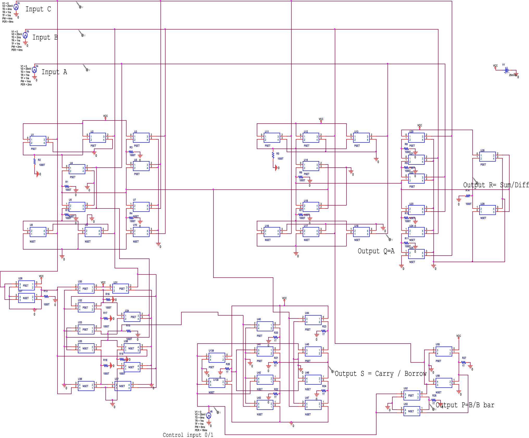 Design And Analysis Of Low Power 8 Bit Alu On Reversible Logic For Block Diagram Composition The Full Adder B Top Level Fig 17 1