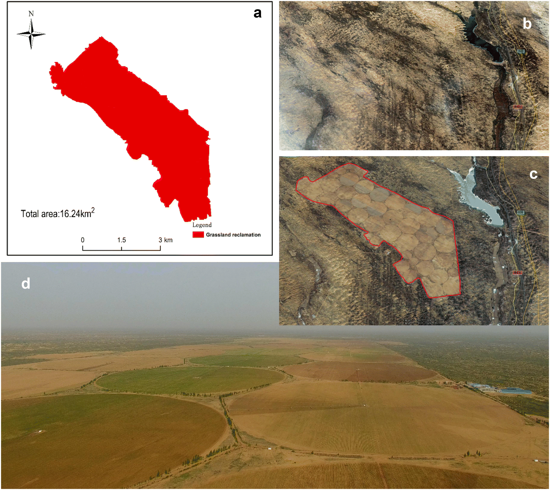 Monitoring grassland reclamation in the Mu Us Desert using
