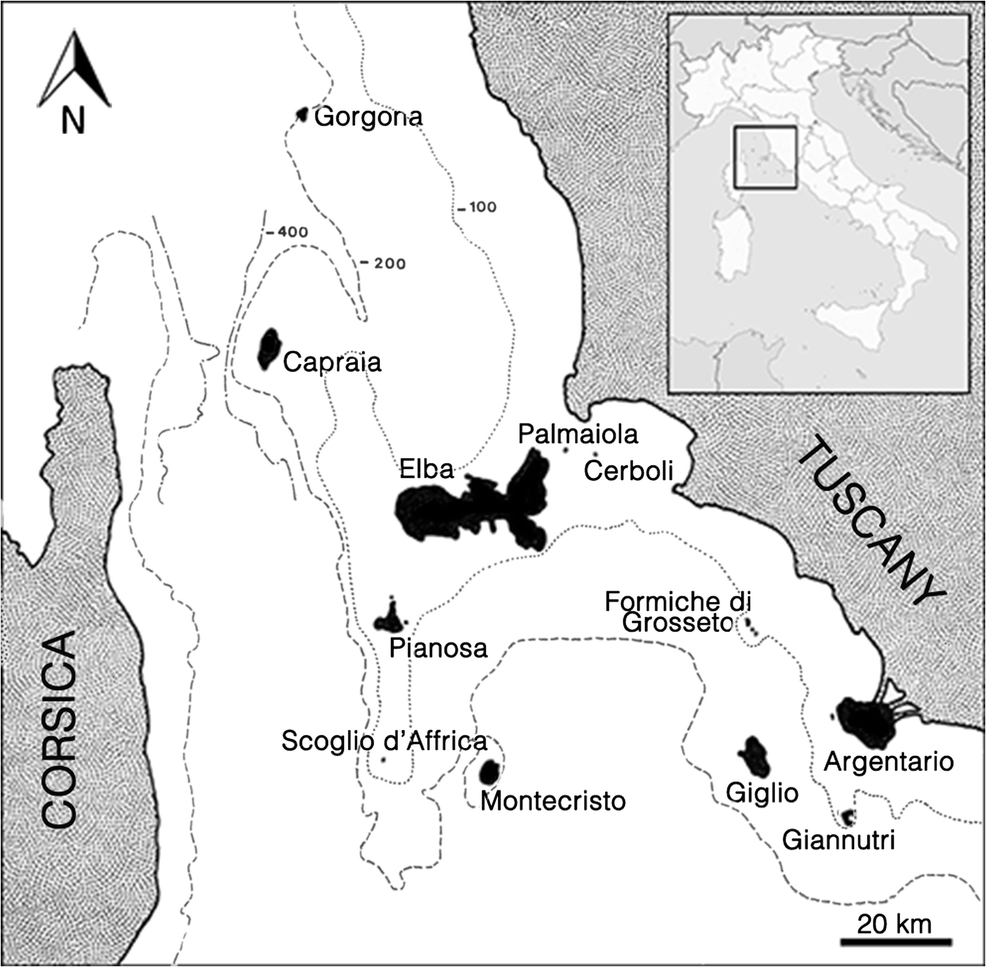 61b96f44a78a The biogeography of non-marine molluscs in the Tuscan Archipelago ...
