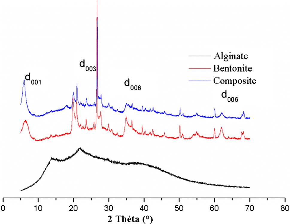 Adsorption of Rhodamine 6G and humic acids on composite