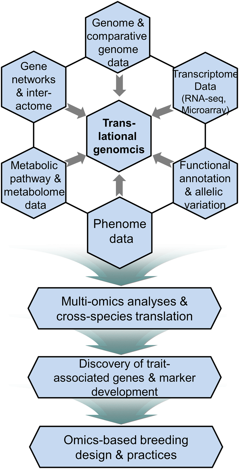 Translational genomics and multi-omics integrated approaches