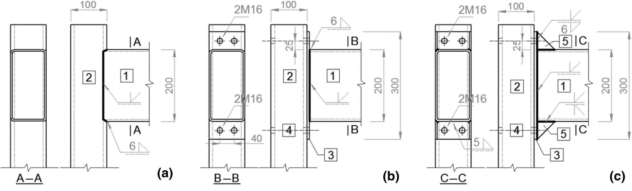 End Plate–Stiffener Connection for SHS Column and RHS Beam
