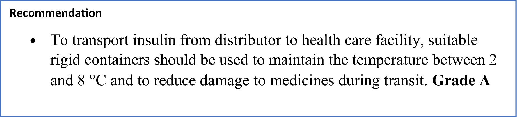 EADSG Guidelines: Insulin Storage and Optimisation of