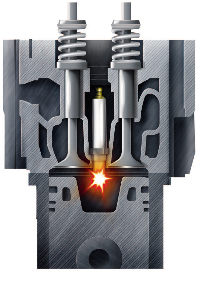 Concept for High-performance Direct Ignition Gas Engines
