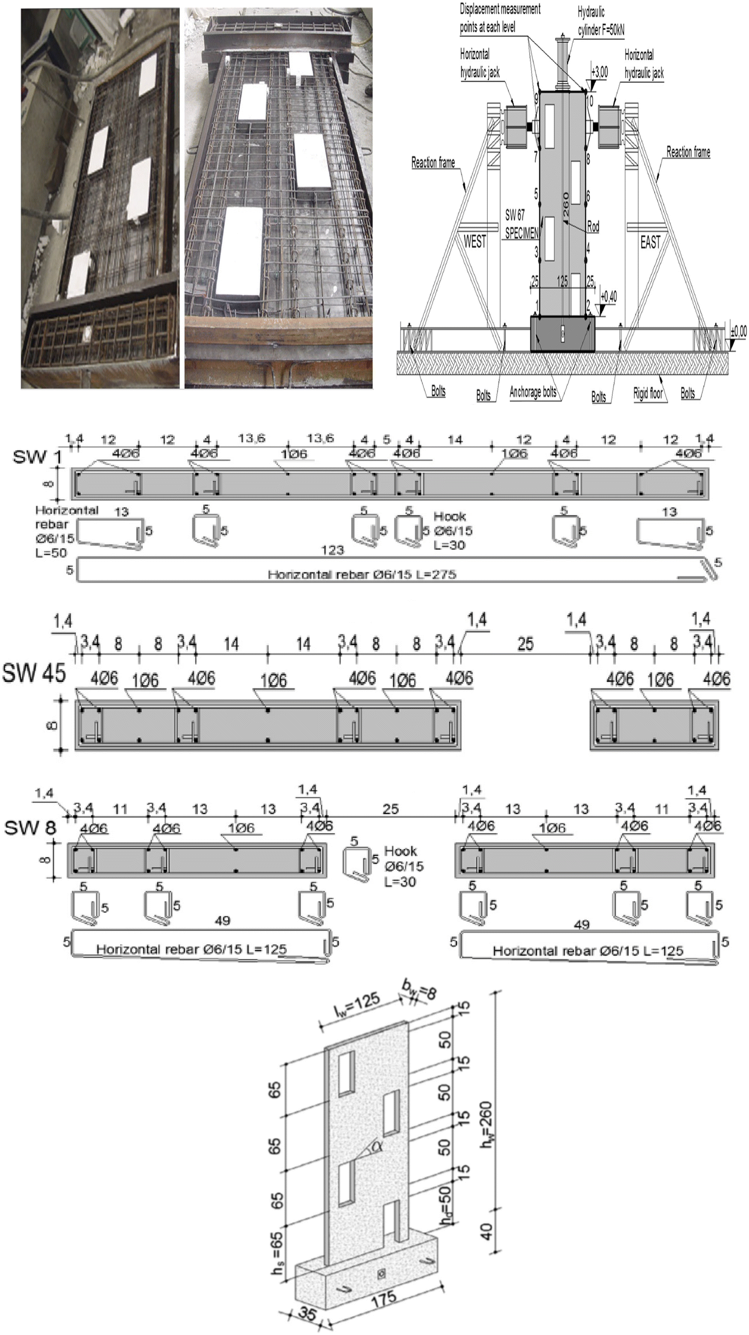 Strengthening of reinforced concrete shear walls with