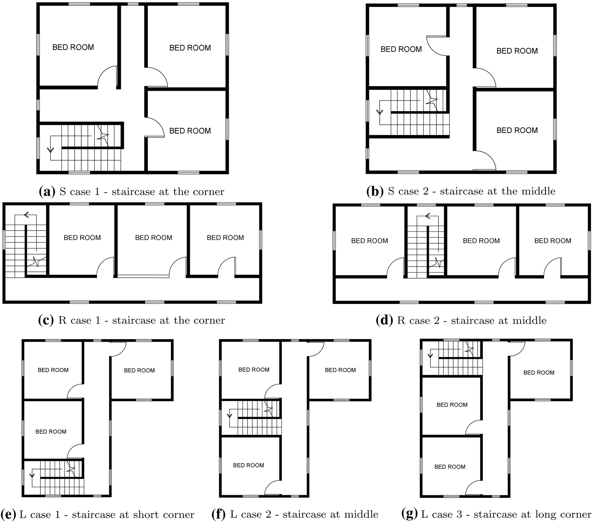 Effect of building shape, orientation, window to wall ratios