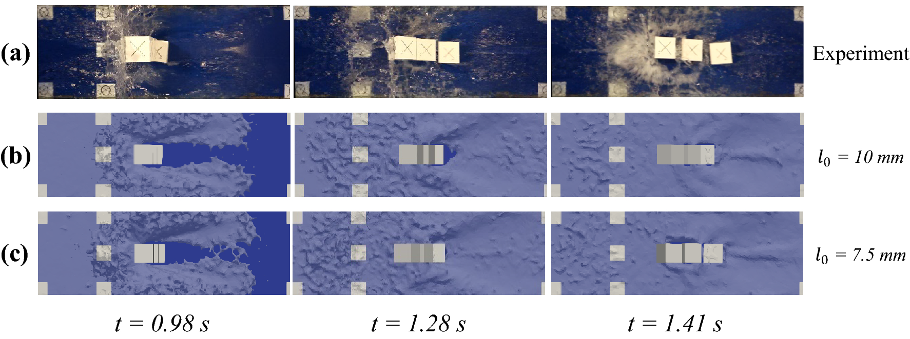 An improvement of rigid bodies contact for particle-based