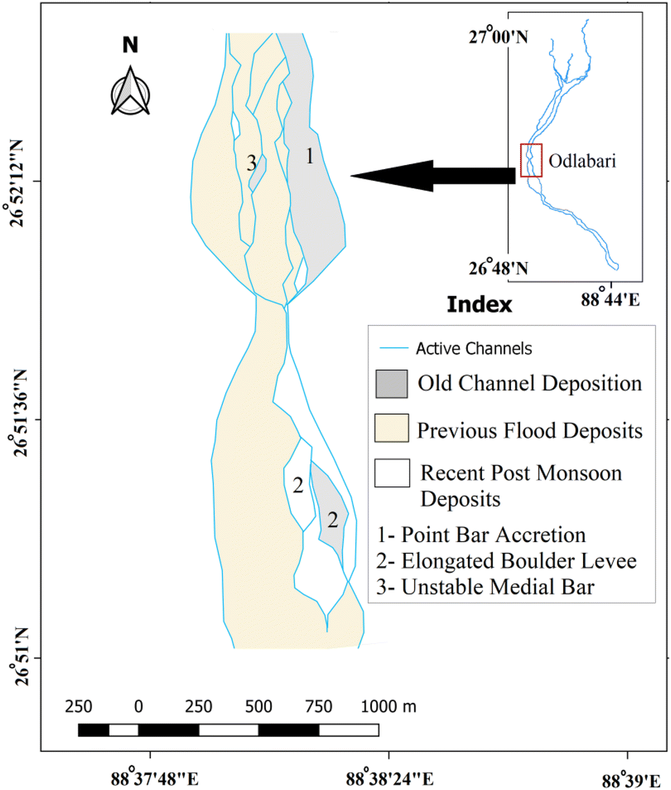 Spatio-temporal variability of channel behavior in relation