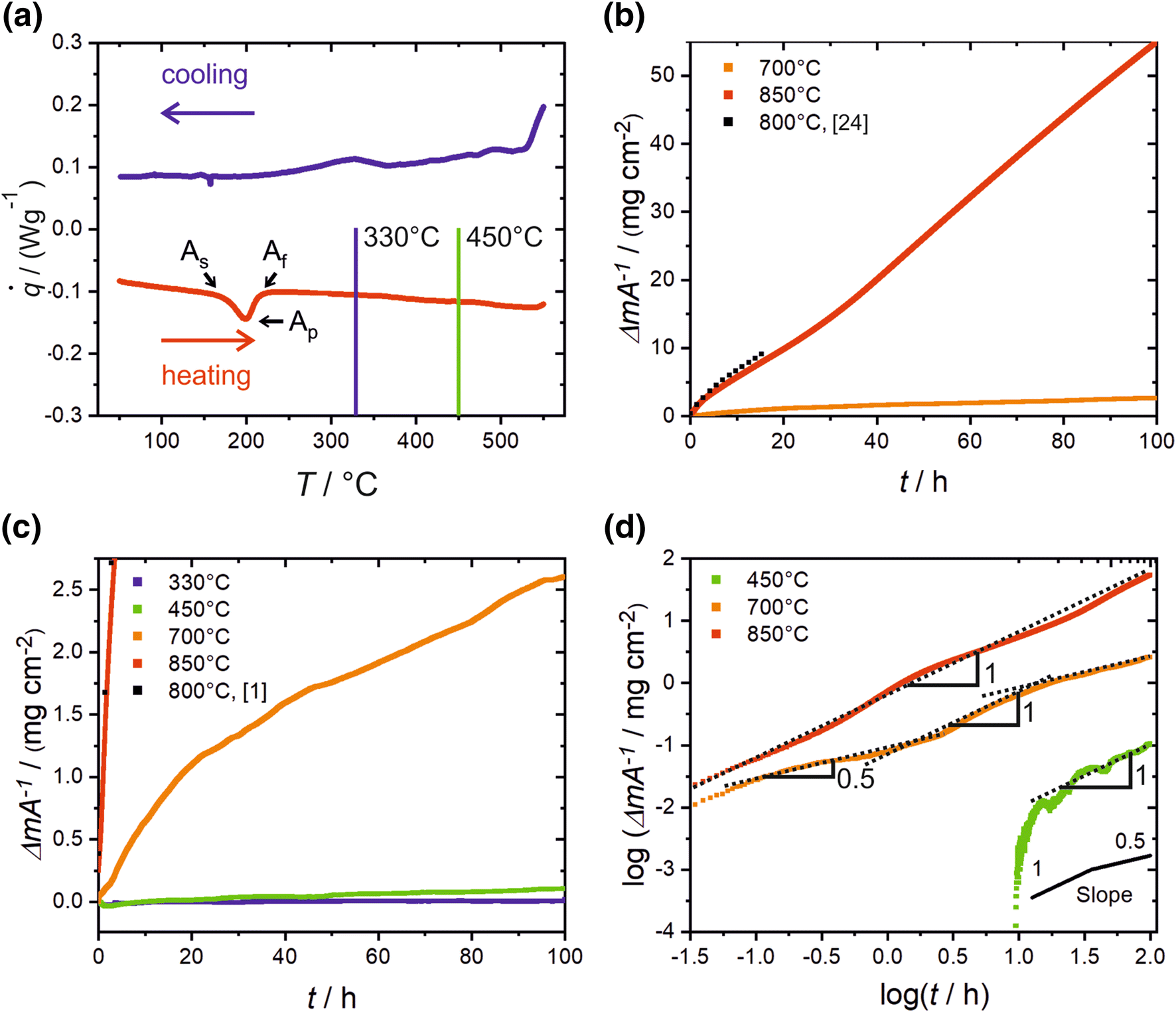 On the Oxidation Behavior and Its Influence on the Martensitic