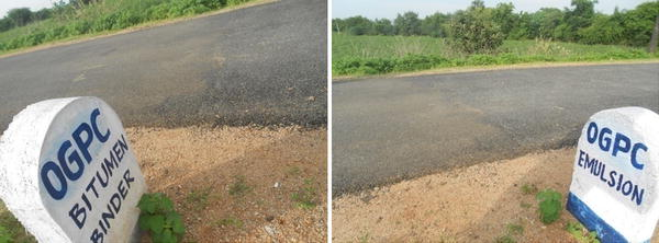 Performance Evaluation of Gravel Road Sections Sealed Using