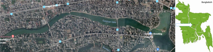 Gulshan Lake, Dhaka City, Bangladesh, an onset of continuous