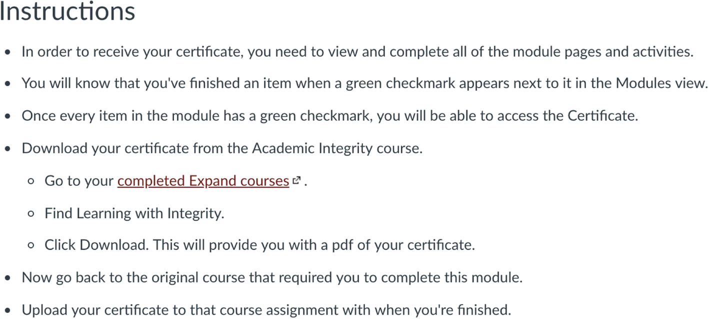 Promoting academic integrity through a stand-alone course in