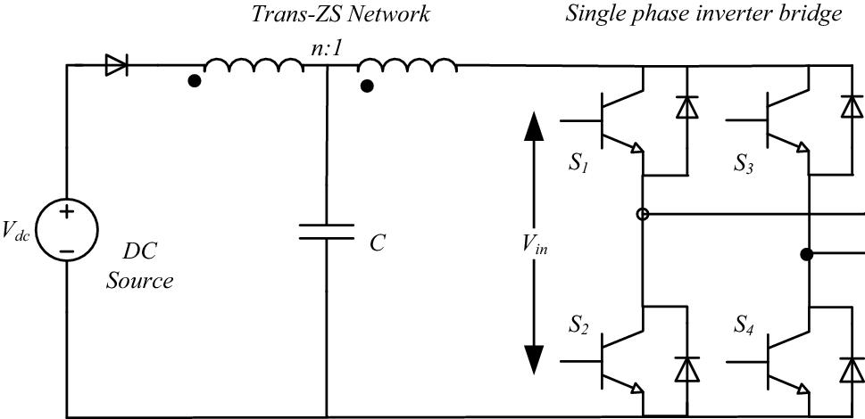 fig  2  single-phase trans-z-source inverter