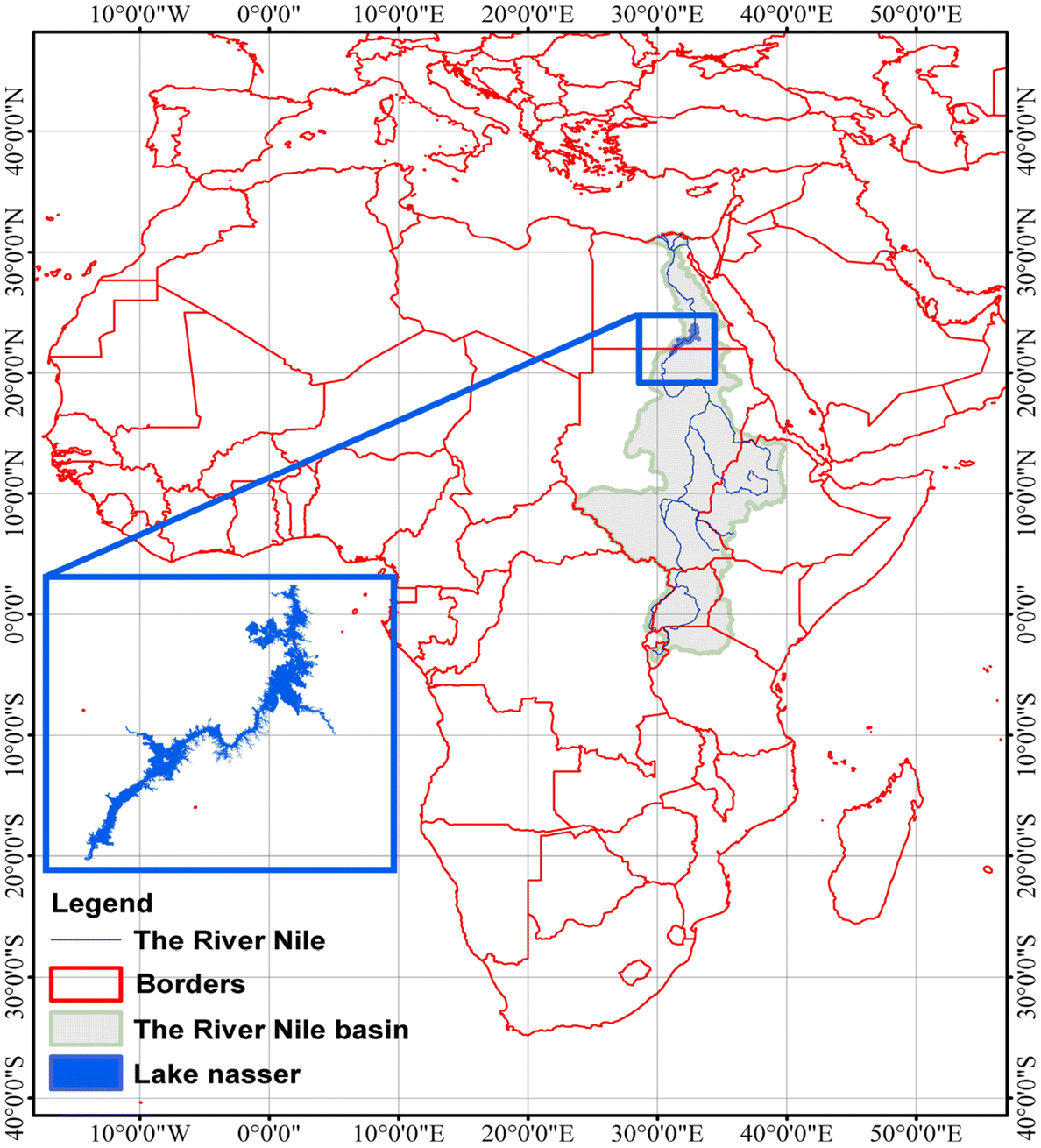 monitoring of water level fluctuation of lake nasser using altimetry The Blue Nile River open image in new window