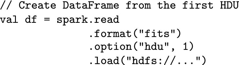 FITS Data Source for Apache Spark | SpringerLink