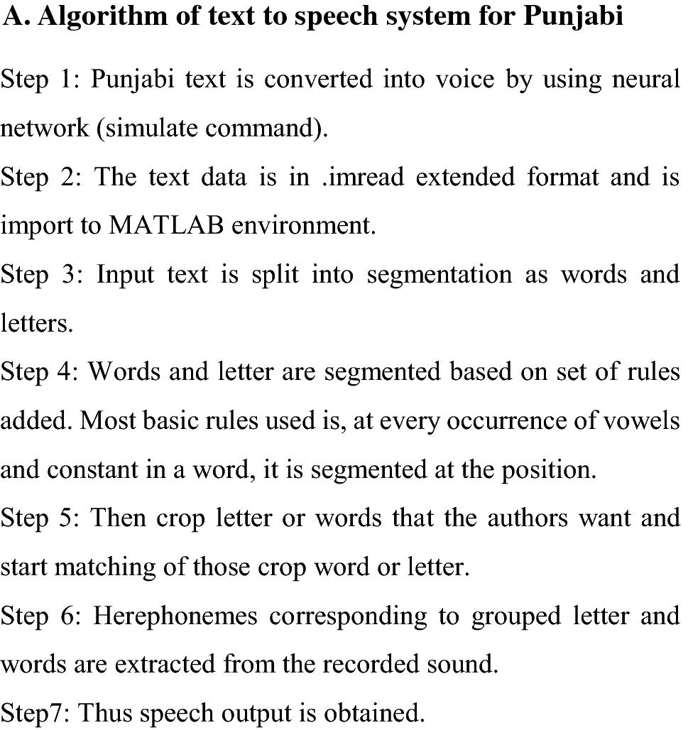 Text to speech conversion in Punjabi language using nourish