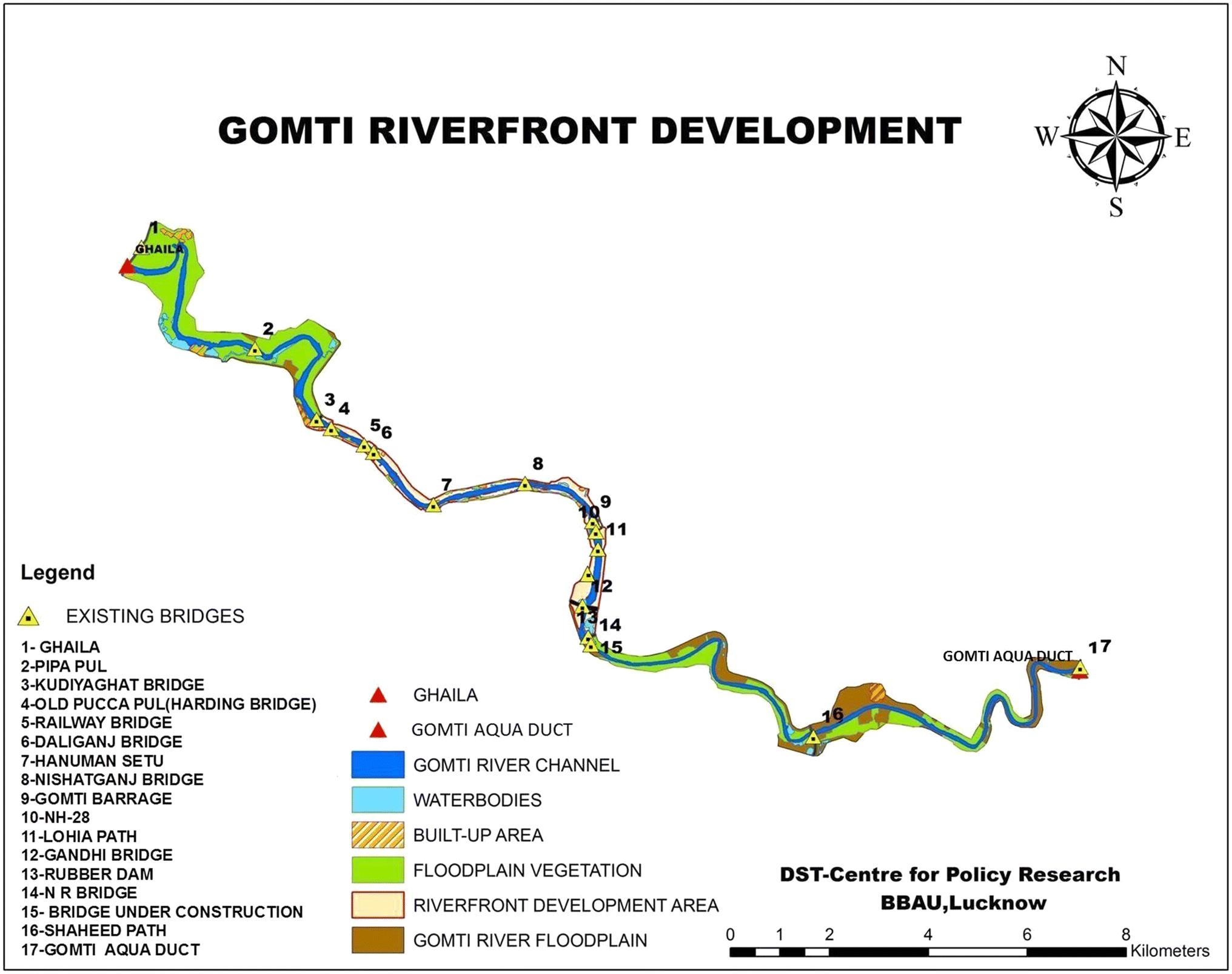 Gomti River map