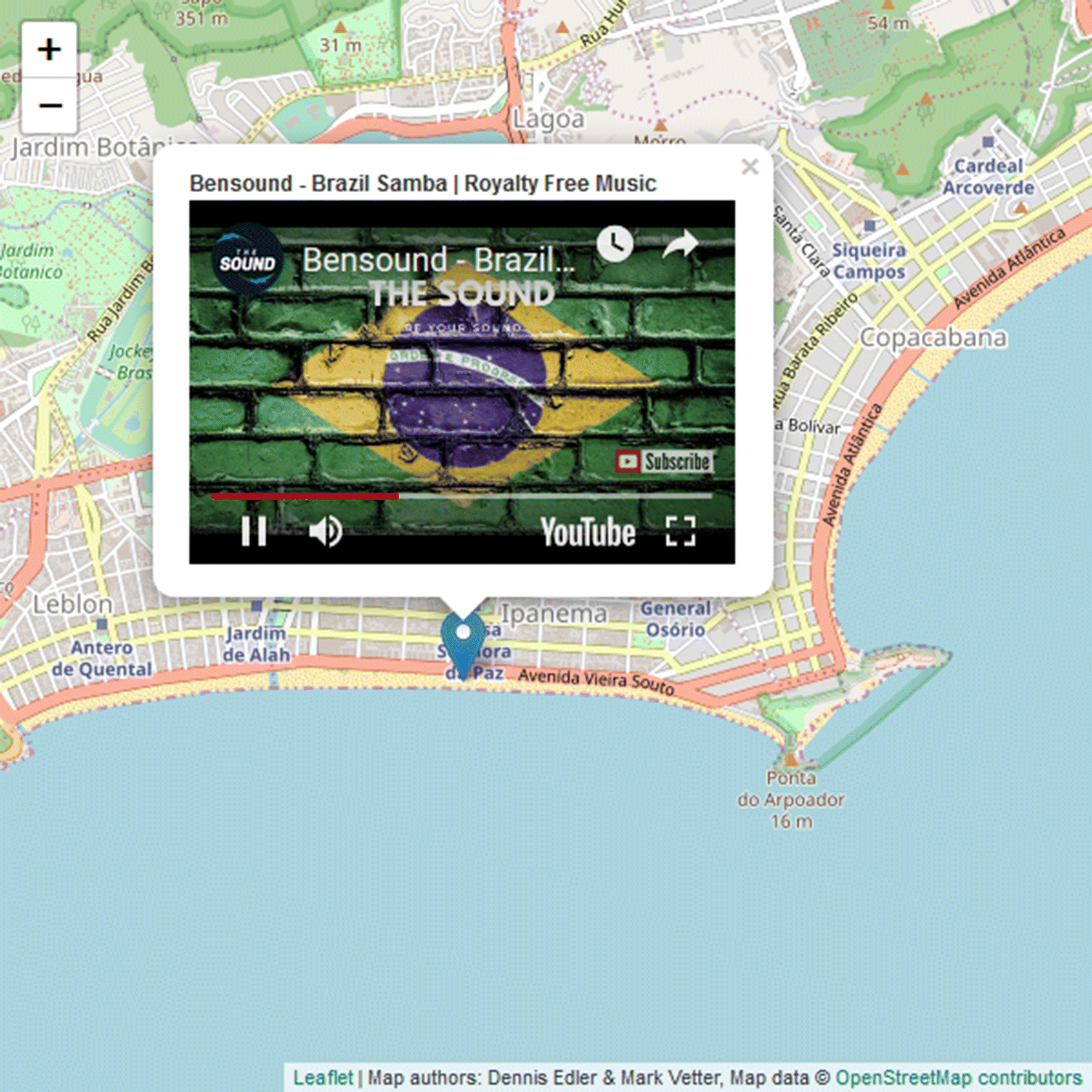 The Simplicity of Modern Audiovisual Web Cartography: An Example