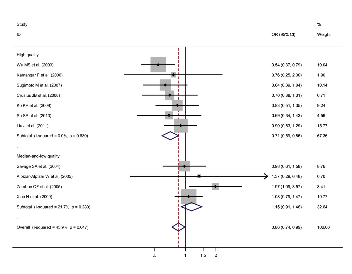 role of an snp in gastric cancer risk Mutations in chek2 and risk of gastric cancer: a case-control study chek2 mutations have been reported to be associated with different human cancers however, the genetic defects distribution and the roles of chek2 mutations in gastric cancer carcinogenesis remain poorly understood.