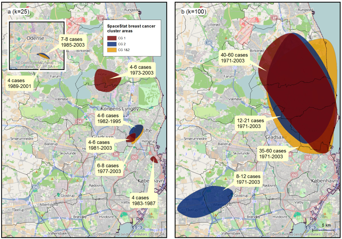 Space-time clusters of breast cancer using residential histories: A ...
