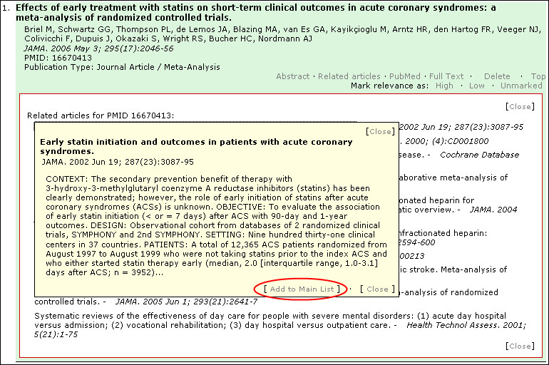 Technical development of PubMed Interact: an improved