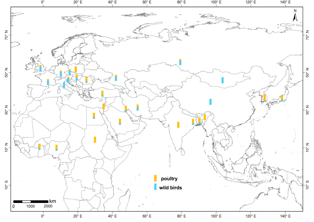 global spatiotemporal and genetic footprint of the h5n1 avian Mongolia Country People open image in new window