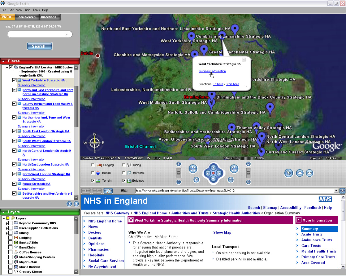 Web GIS In Practice III: Creating A Simple Interactive Map Of England's Strategic Health