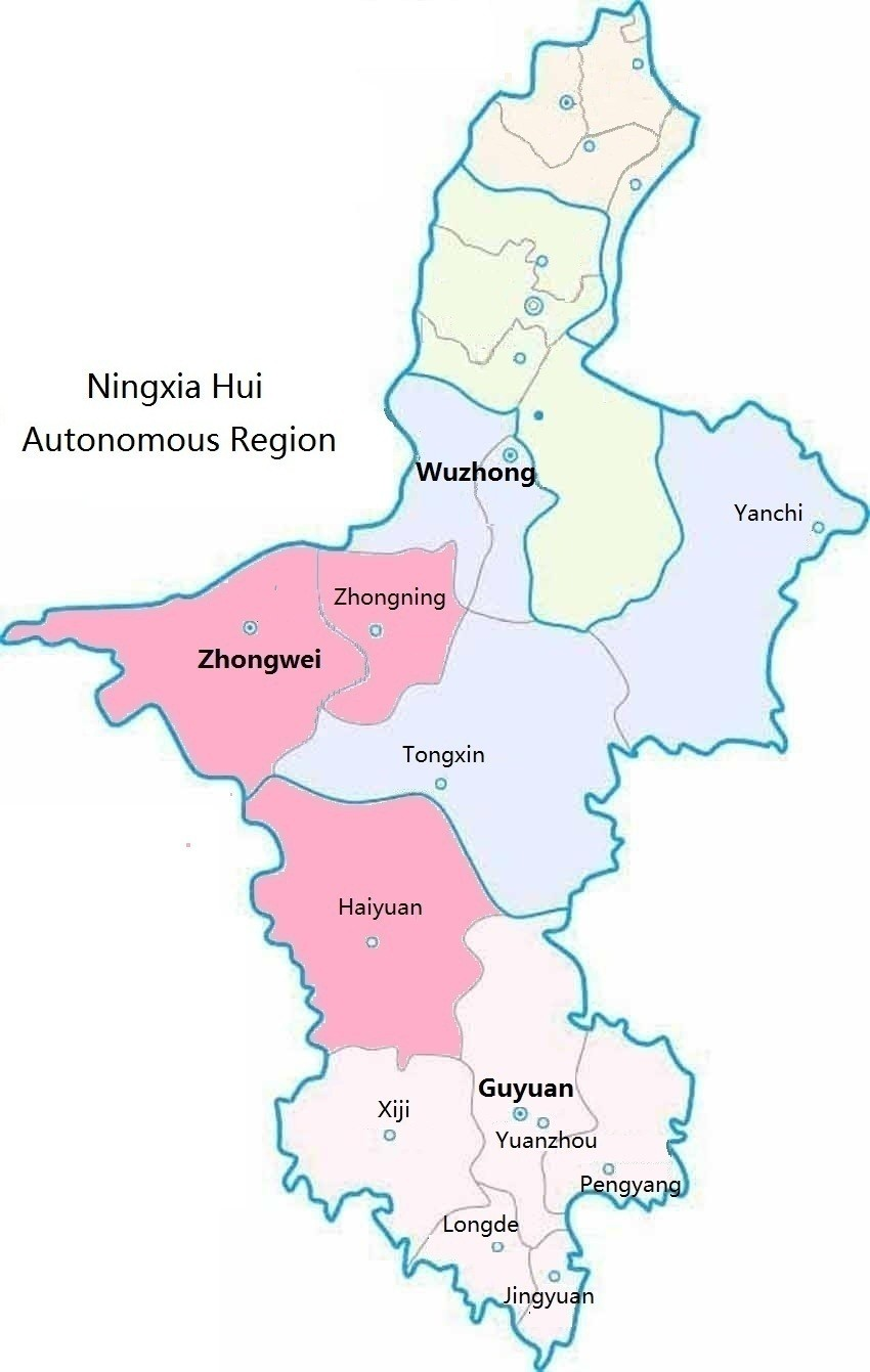 Ningxia China Map.Payments For Ecological Restoration And Internal Migration In China