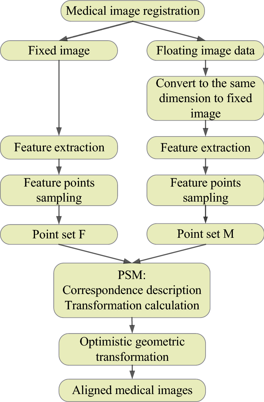 A Review of Point Feature Based Medical Image Registration