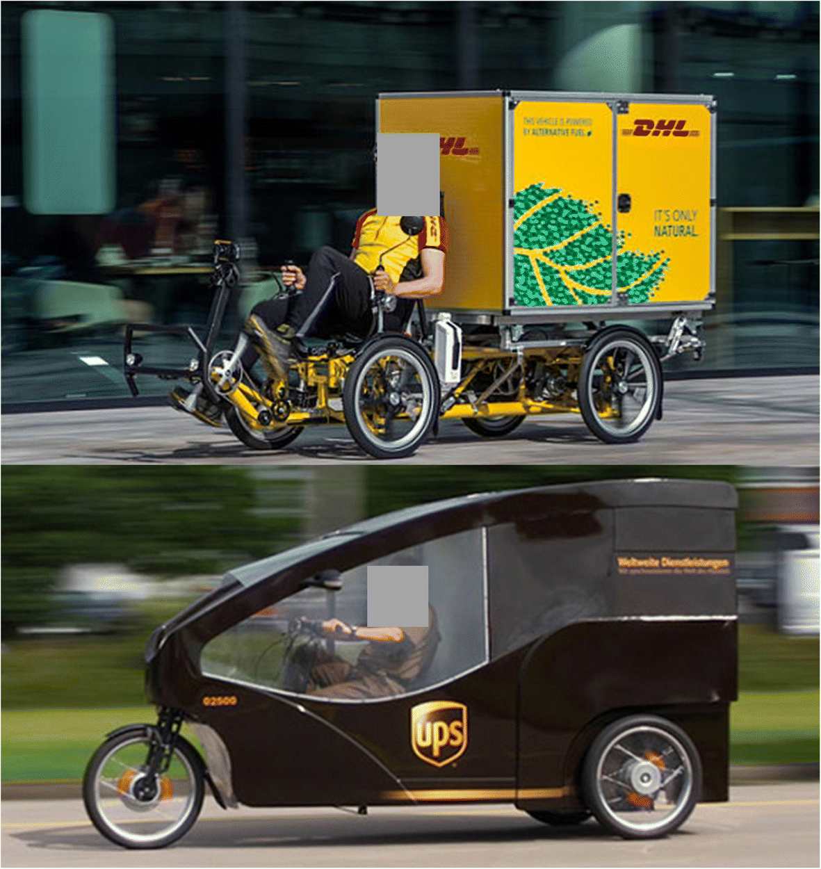 Measuring delivery route cost trade-offs between electric