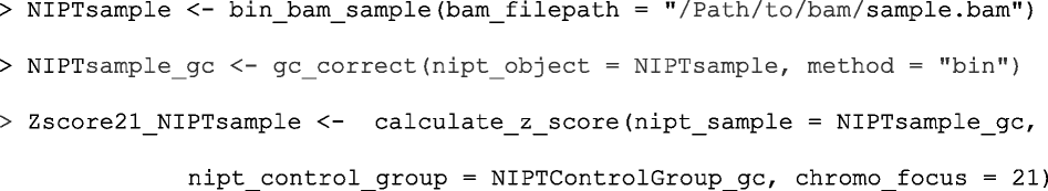 NIPTeR: an R package for fast and accurate trisomy