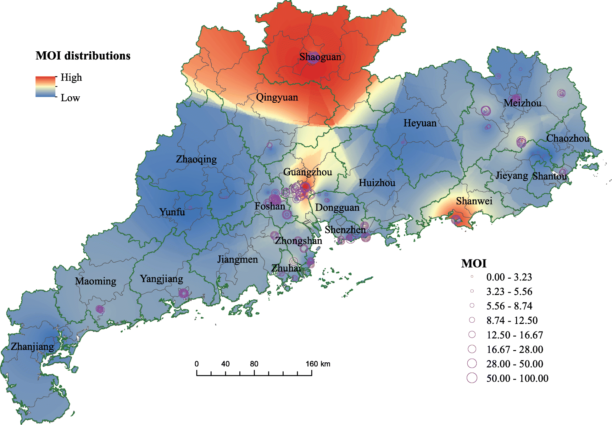 Spatiotemporal analysis of the dengue outbreak in Guangdong ...