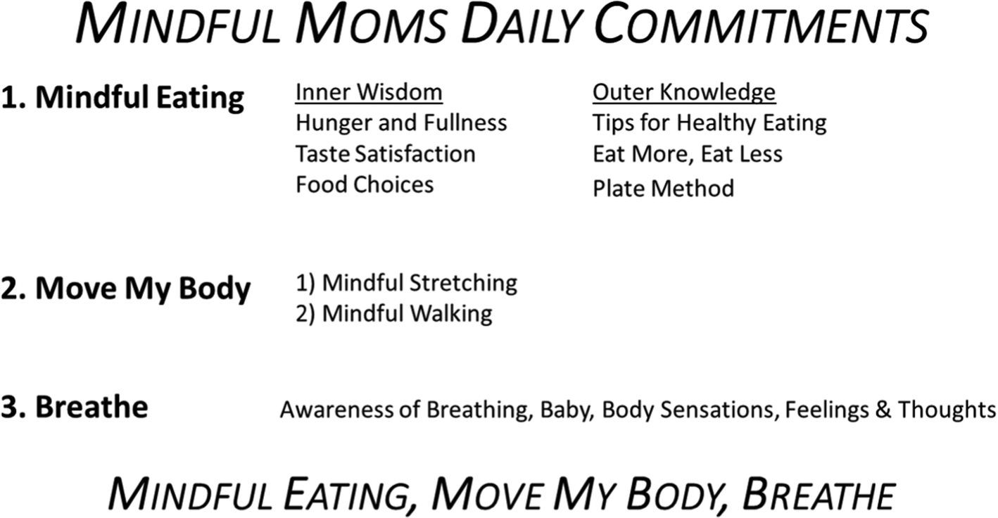 The mindful moms training: development of a mindfulness