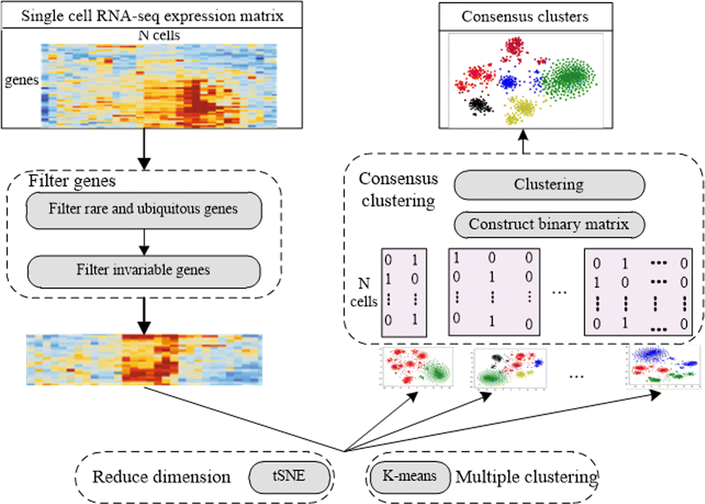 Identification of cancer subtypes from single-cell RNA-seq data