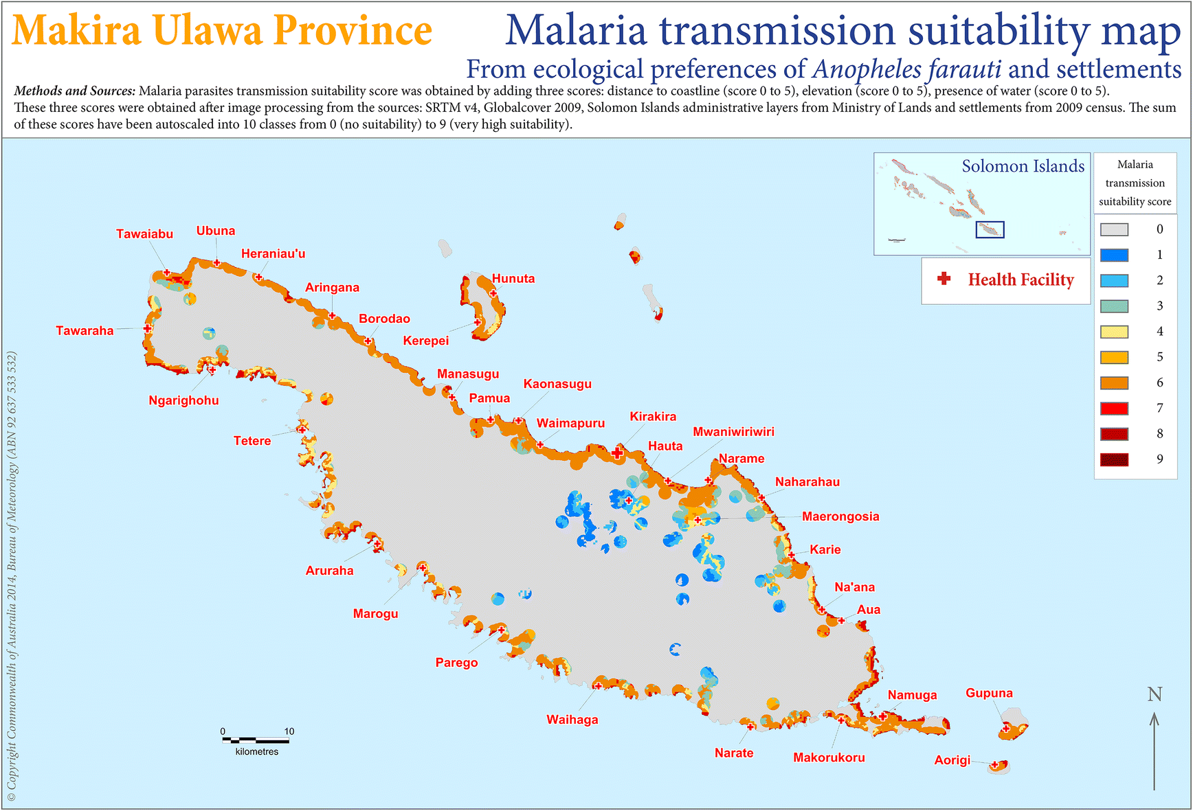 Mapping a Plasmodium transmission spatial suitability index