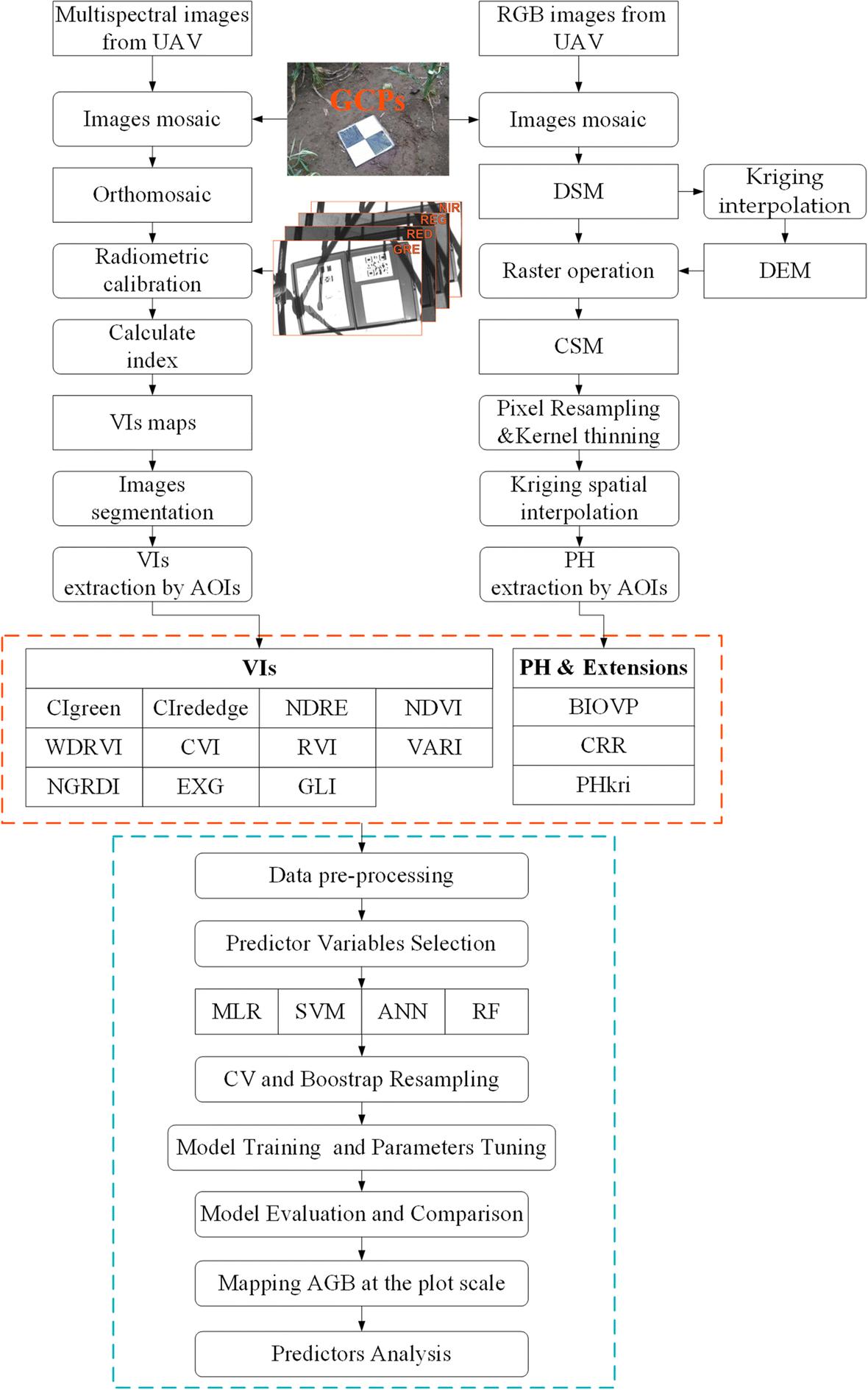 Modeling maize above-ground biomass based on machine