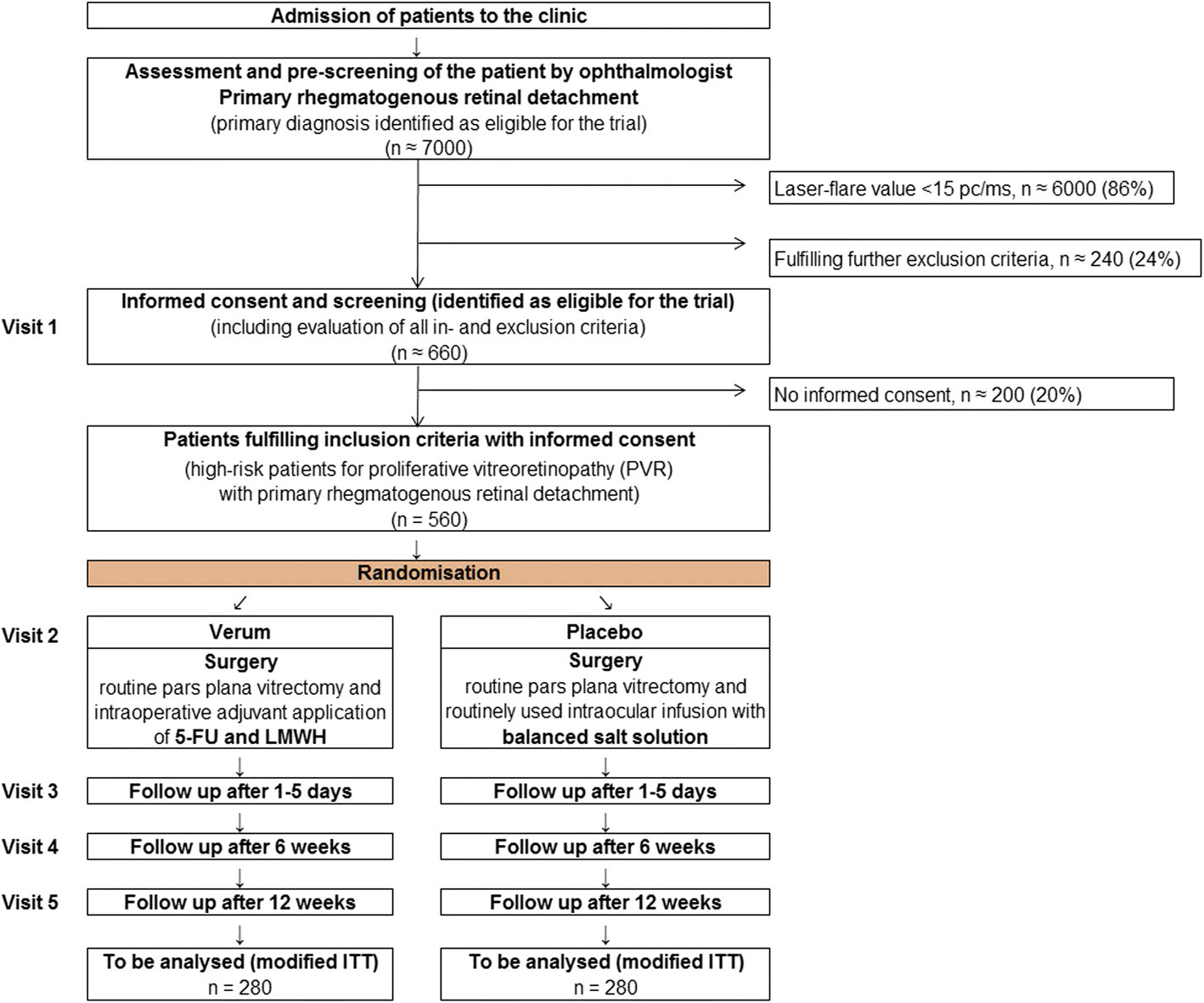 Prophylactic intravitreal 5-fluorouracil and heparin to prevent
