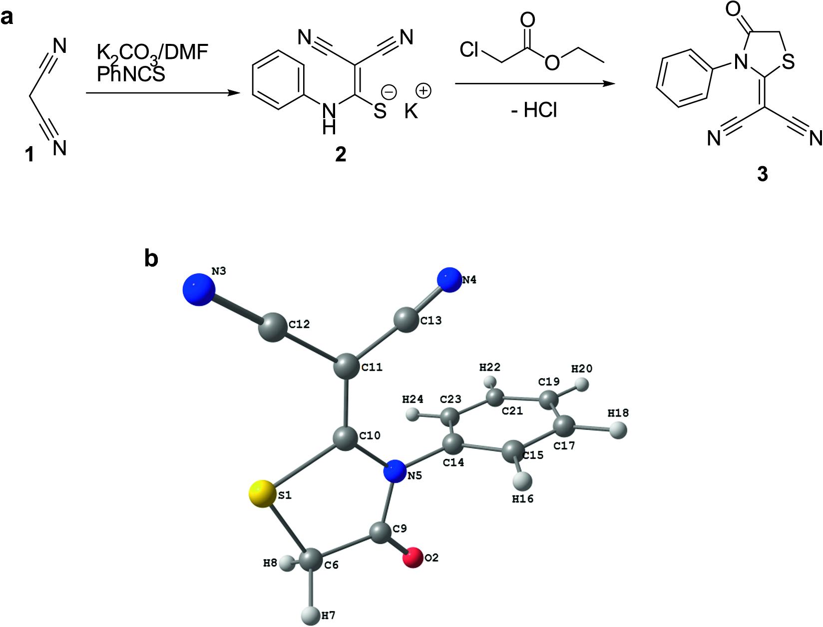 Computational studies of 2-(4-oxo-3-phenylthiazolidin-2