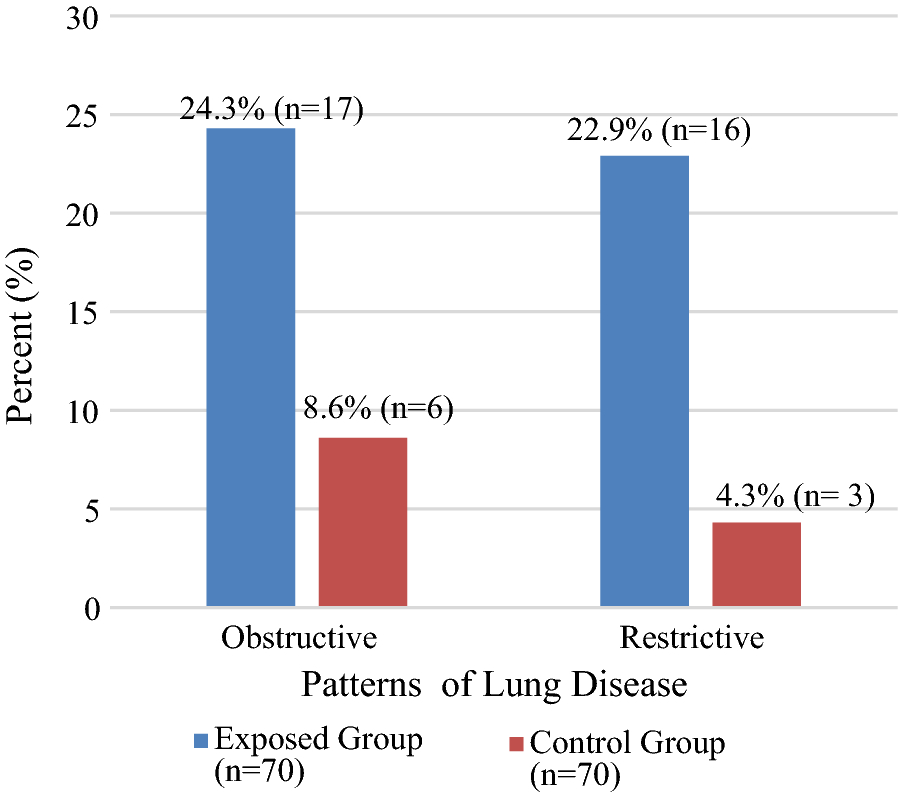 Assessment of pulmonary function among cleaners in governmental