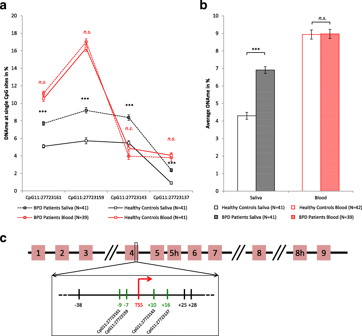 Increased BDNF methylation in saliva, but not blood, of ... on